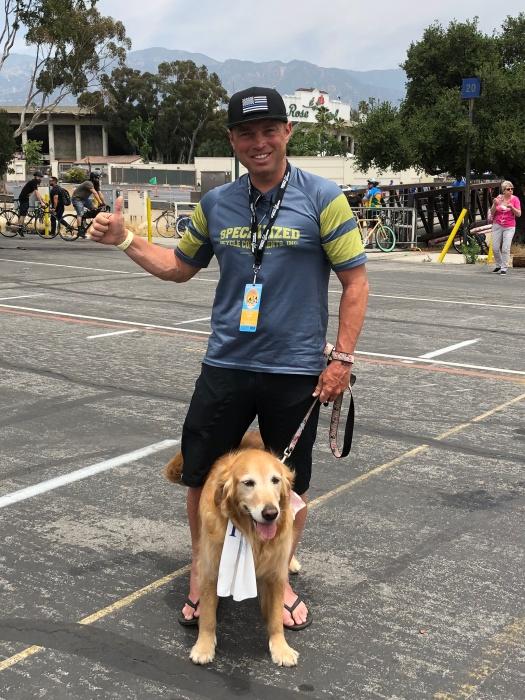 Brian Nadon at the tour of California